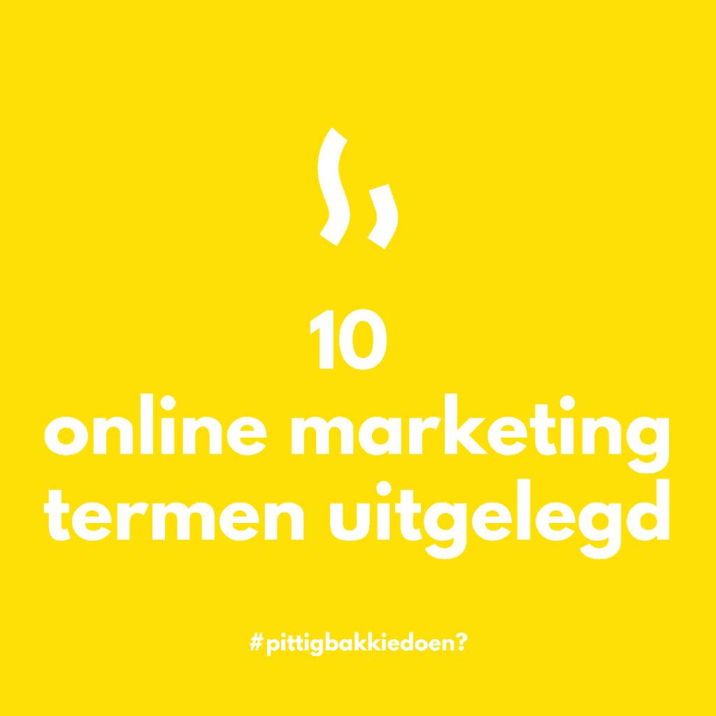 10 online marketing vaktermen uitgelegd